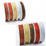 Weihnachtsband Eiszeit in 2 Breiten und verschiedenen Farben