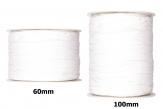 Plissee Taft weiß in versch. Breiten 10m