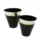 Vase schwarz-silber in zwei Größen 1Stk