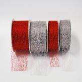 Vlies grau und rot 25m div. Breiten