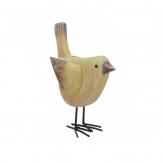 Vogel grün aus Holz 16cm 1Stk