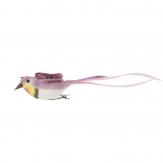 Federvogel mit Clip pink 6 St