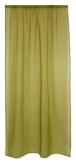 Vorhang aus Leinen mit Stabtasche grün 135x245cm 1Stk