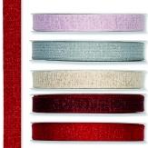 Weihnachtsband Glitzer 15mm20m in verschiedenen Farben
