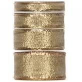 Weihnachtsband gold -Drahtkante - 25m in verschiedenen Breiten