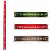 Weihnachtsband - Frohe Weihnachten - div. Farben10mm 18m