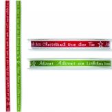 Weihnachtsband mit Advent-Gedicht 09mm18m in zwei Farben