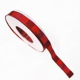 Weihnachtsband rot lila Satin 15mm20m