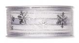 Weihnachtsband Schneeflocke weiß 40mm20m