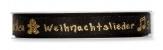 Weihnachtsband - Weihnachtszeit - schwarz 15mm15m