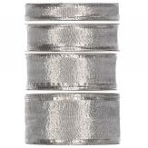 Weihnachtsband silber -Drahtkante - 25m in verschiedenen Breiten