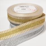 Weihnachtsband silber und gold 25mm20m