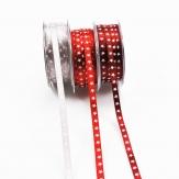 Weihnachtsband Sterne in drei Farben 6mm20m