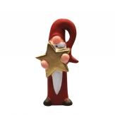 Weihnachtsmann mit Stern rot 9cm 1Stk