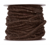 Wollschnur Wollband braun 5mm10m