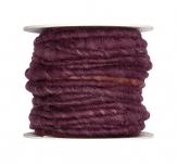 Wollschnur Wollband brombeere 5mm10m