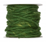 Wollschnur Wollband grün 5mm10m