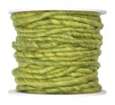 Wollschnur Wollband grün meliert 5mm10m