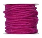 Wollschnur Wollband pink 5mm10m
