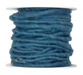Wollschnur Wollband türkis 5mm10m