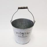 Flowers and Garden Zinkeimer mit Henkel rund 10x08cm (Eimer A auf Bild)