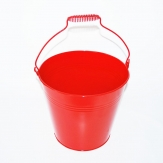Zinktopf rot 24x21cm