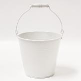 Metalleimer weiß 14x13x10cm 1Stk