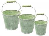 Zinktopf rund grün in drei Größen 1Stk