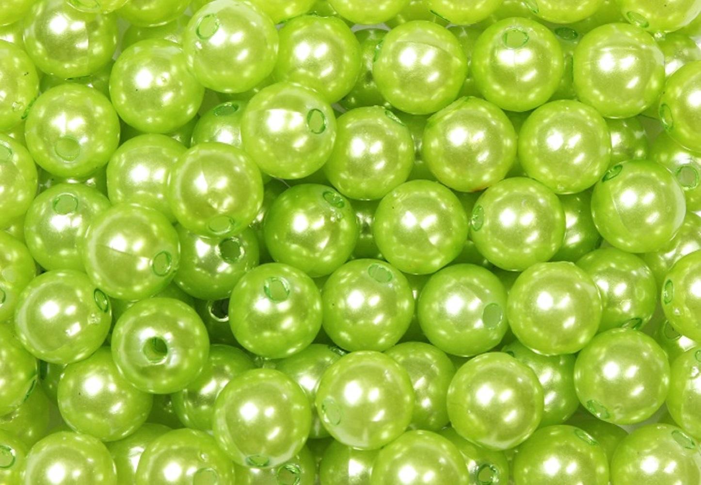 deko perlen apfelgr n in zwei gr en g nstig kaufen