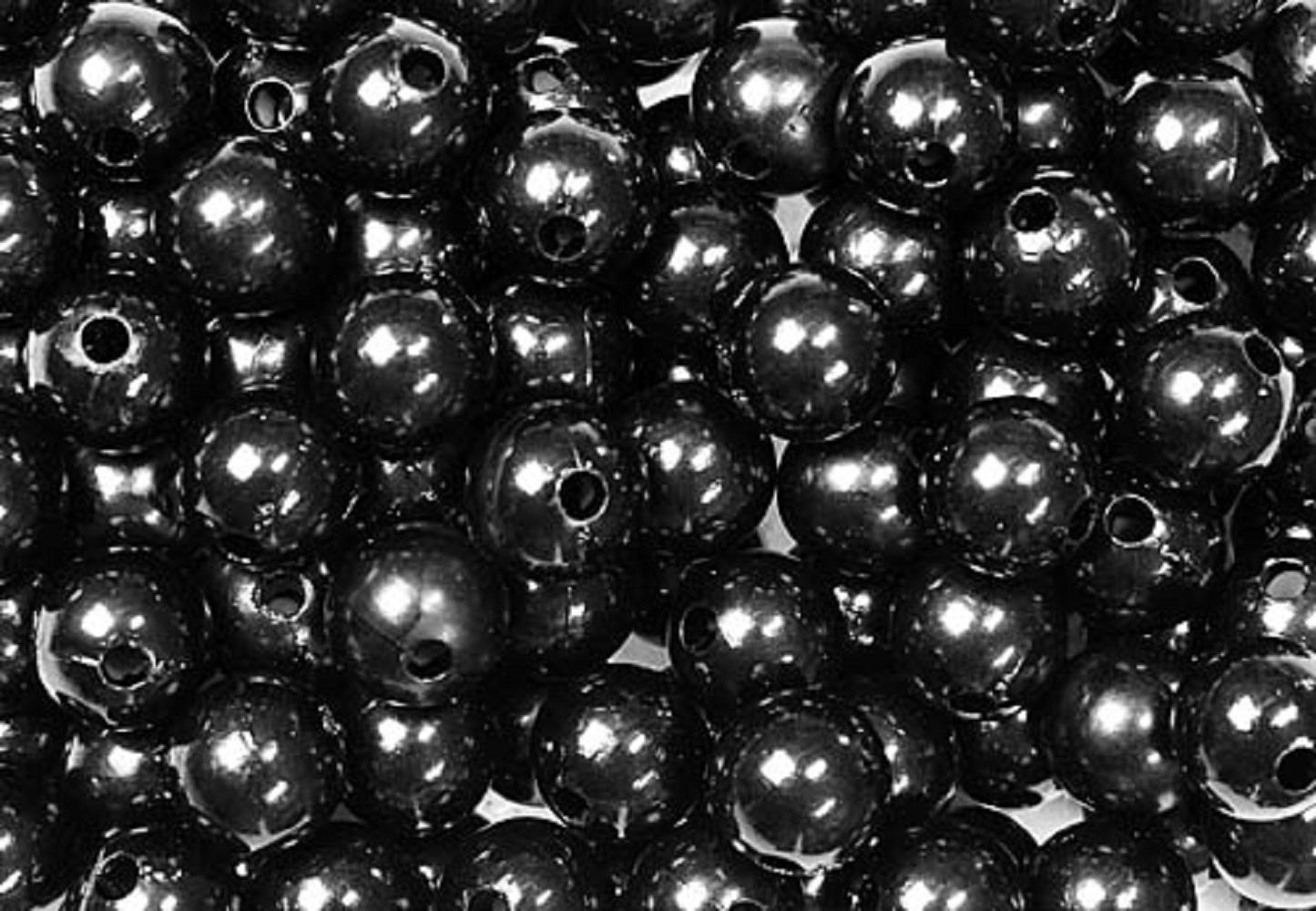 Deko perlen schwarz 10mm 115stk g nstig kaufen Deko schwarz