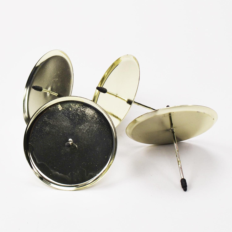 kerzenteller mit dorn gold 6cm 4stk g nstig kaufen. Black Bedroom Furniture Sets. Home Design Ideas