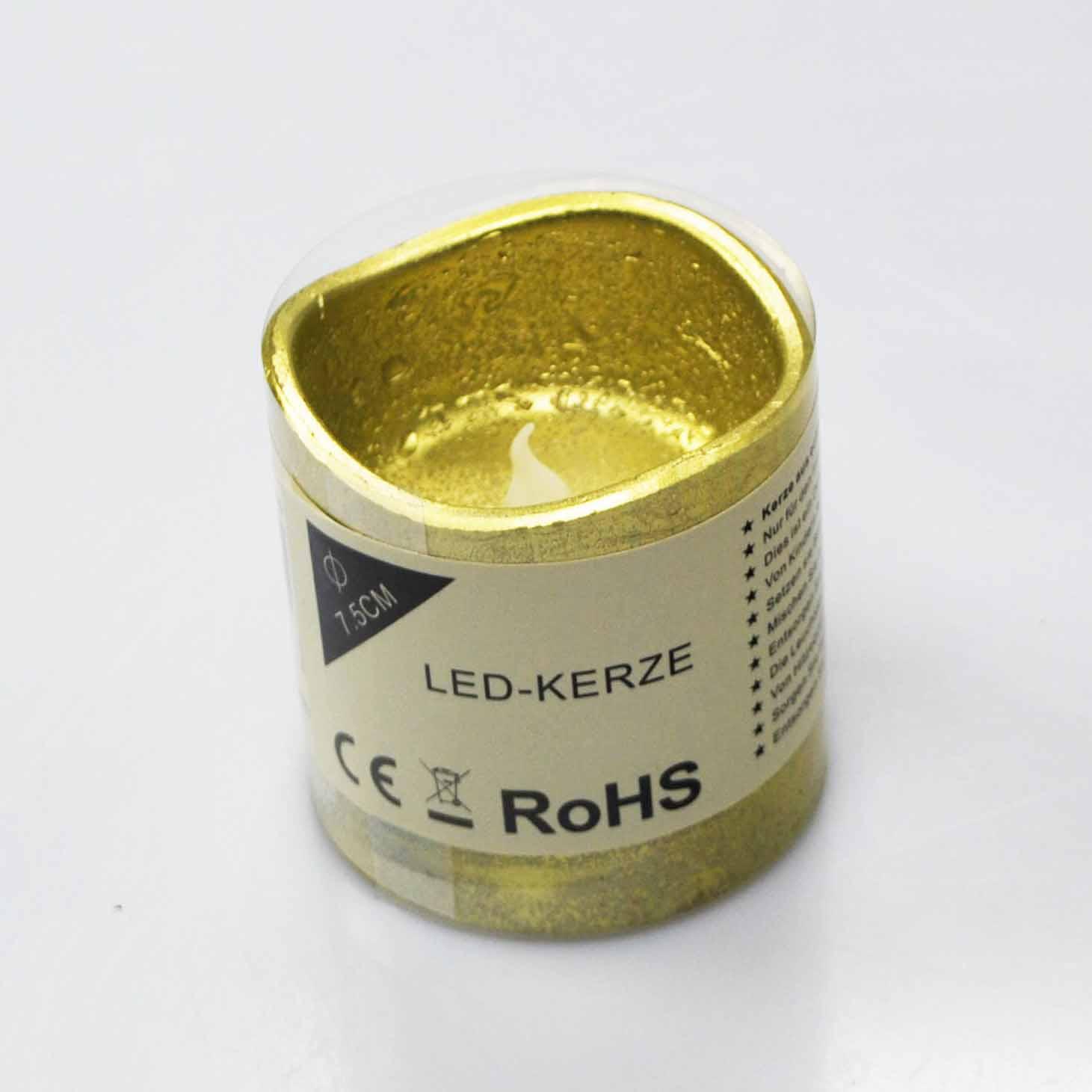 led kerze aus wachs gold batteriebetrieb in verschiedenen gr en g nstig kaufen. Black Bedroom Furniture Sets. Home Design Ideas
