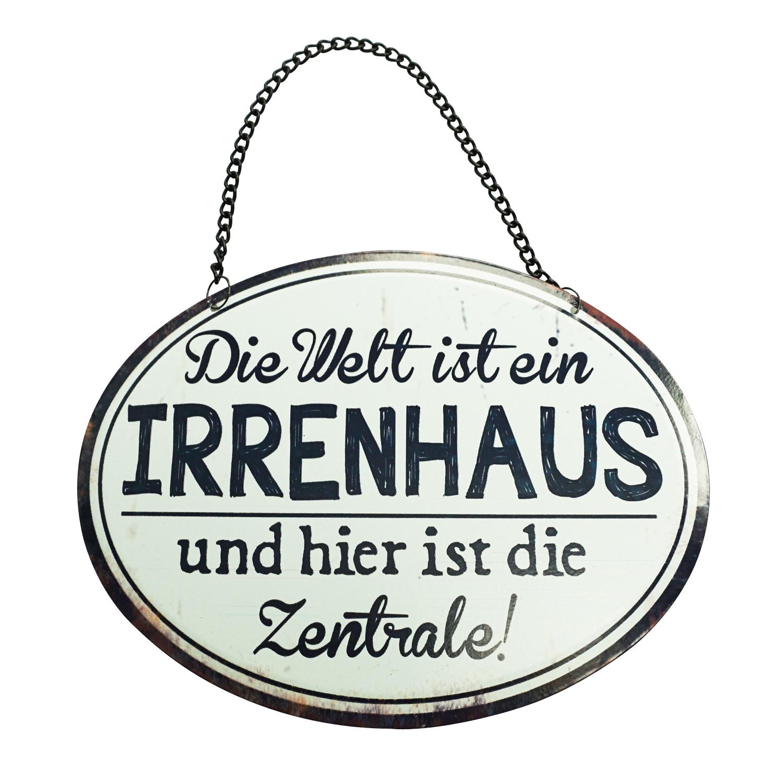 Metallschild Irrenhaus 17x3cm 3Stk günstig kaufen