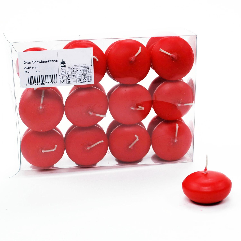 Schwimmkerzen 45mm rot 24stk g nstig kaufen - Schwimmkerzen kaufen ...