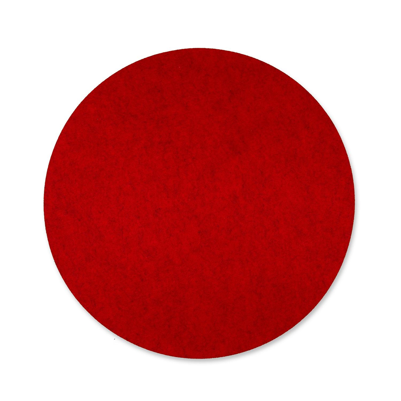 Filz Tischset Rund Rot O40cm 4stk Gunstig Kaufen