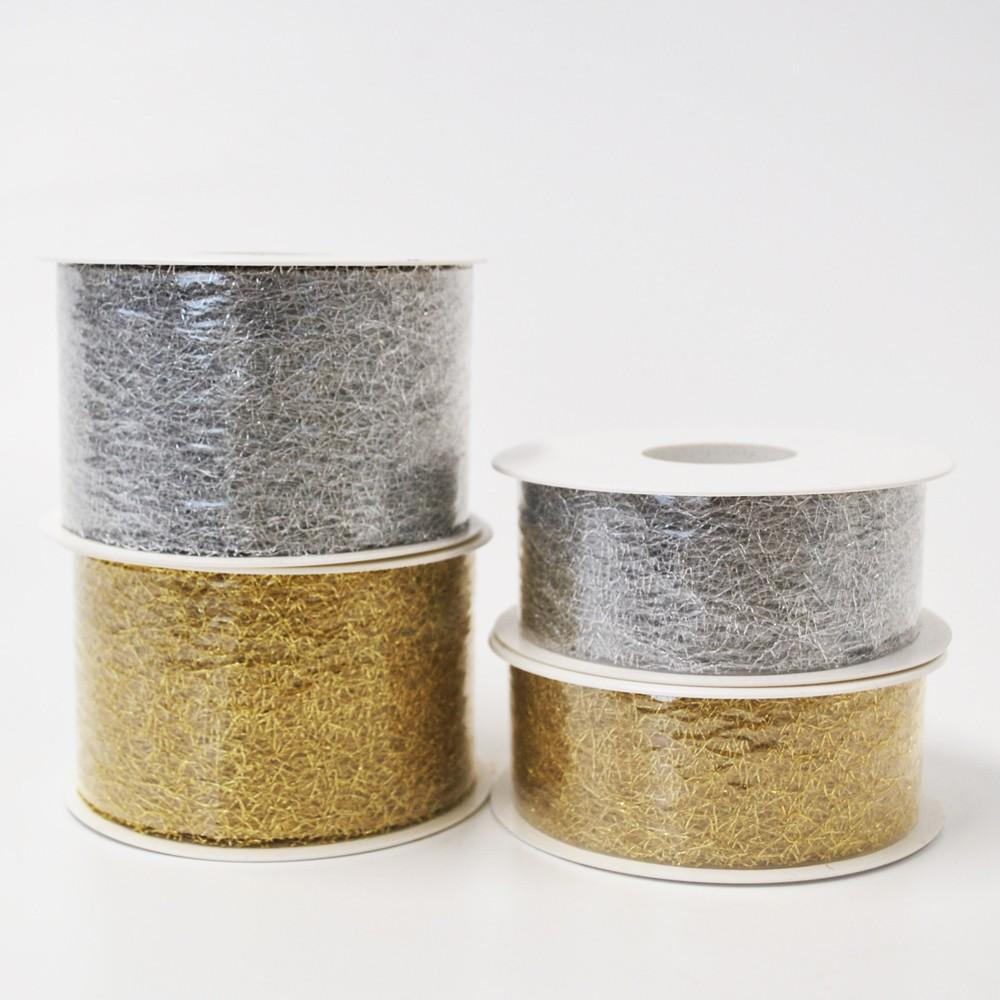 weihnachtsband silber und gold vlies 20m div breiten. Black Bedroom Furniture Sets. Home Design Ideas